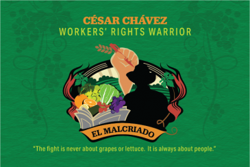 original artwork honoring Cesar Chavez