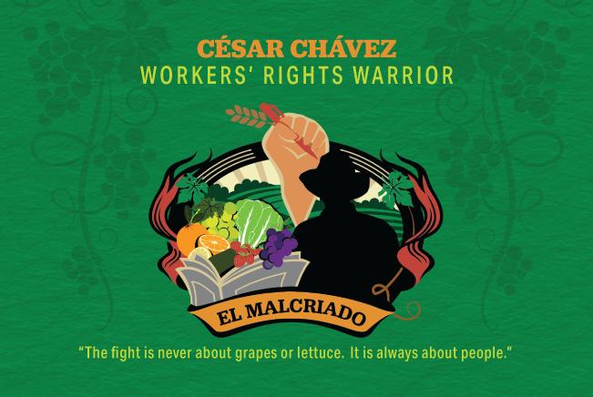 original artwork honoring Cesar Chavez
