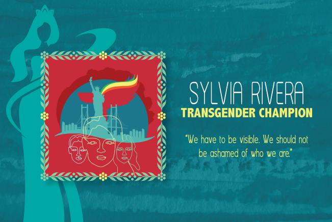 Original artwork depicting Sylvia Rivera