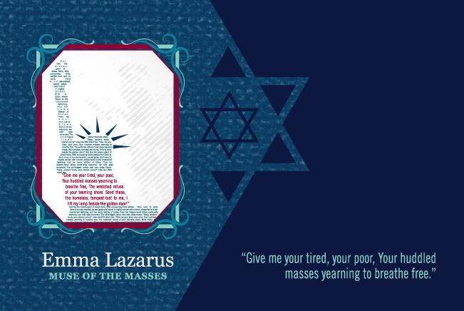 Original artwork showcasing Emma Lazarus