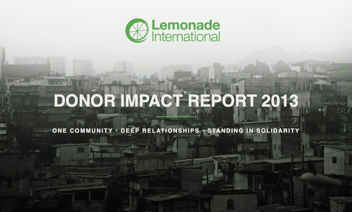 Lemonade International 2013 Annual Report Screenshot