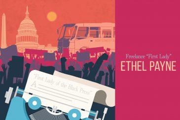 Original artwork honoring Ethel Payne