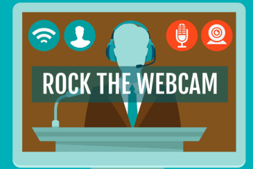 Tips and tricks for making sure that your webcam presentation or webinar is effective.