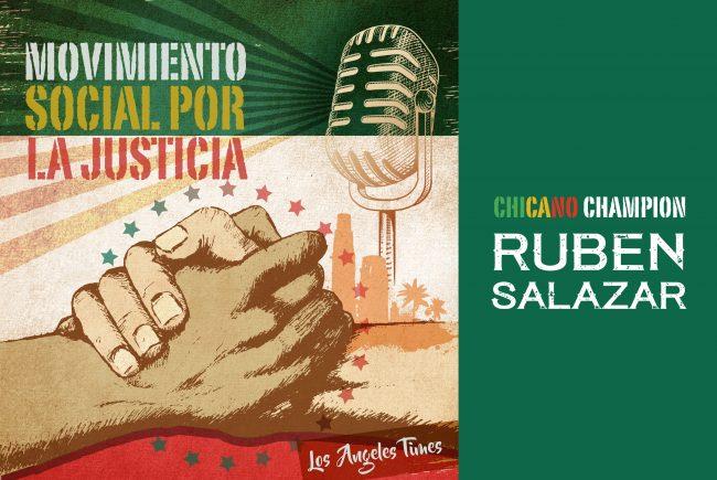 Ruben Salazar designed graphic